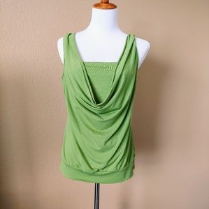 Layered, drapey sleeveless top